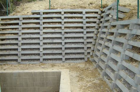 Concrete Crib Retaining Wall by Australian Retaining Walls Options Australian Retaining