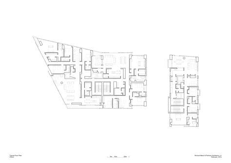 floor plan image richard meier designs two tower residential development