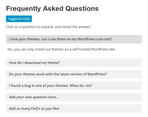 faqs template how to add an animated faq to any site without a
