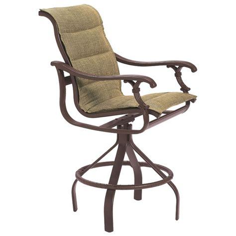 padded swivel bar stools tropitone 650727ps ravello padded sling swivel bar stool