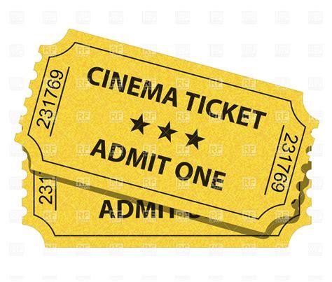 cineplex no passes cinema ticket royalty free vector clip art image 5527