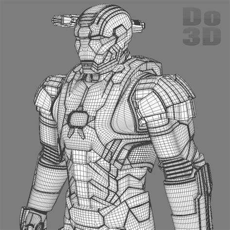 printable iron man armor 3d printable model of iron man patriot armor suit from