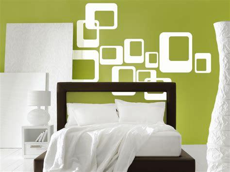 retro schlafzimmerdekor wandtattoo retro dekor wandtattoos retro rechteck