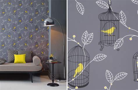 grey wallpaper yellow birds home update animal wallpaper sheerluxe com