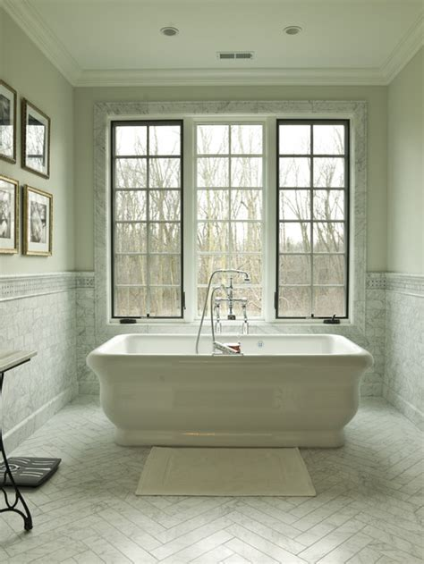 houzz bathroom floor tile who makes the large marble herringbone tile used on the floor