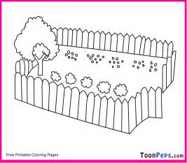 free coloring pages fence