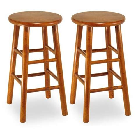 24 Inch Kitchen Stools by Cherry 24 Inch Kitchen Stools Set Of Two Winsome Wood