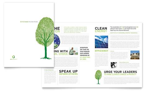 environment template environmental non profit brochure template design