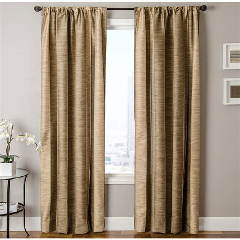 allen roth curtain panels shop allen roth ellesmere 84 in l striped camel rod