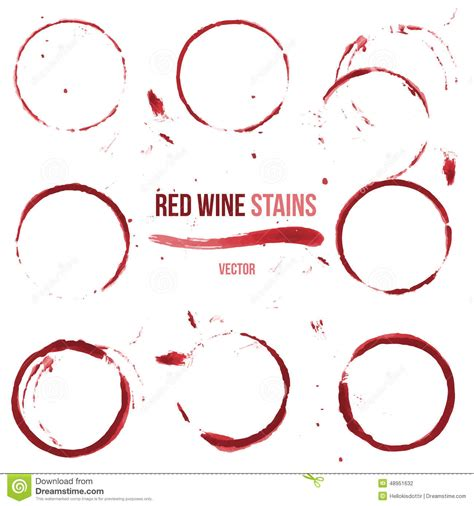 Wine Stain On by Wine Stains On White Background Stock Vector Image