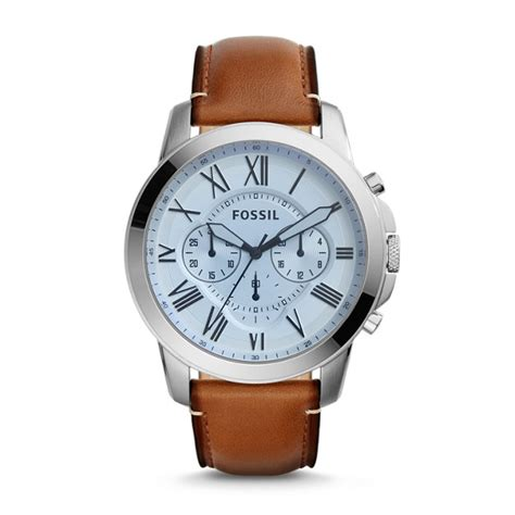 fossil idealist light brown leather watch grant chronograph light brown leather watch fossil