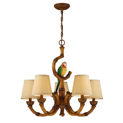 Tropical Chandelier Tropical Parrot Chandelier