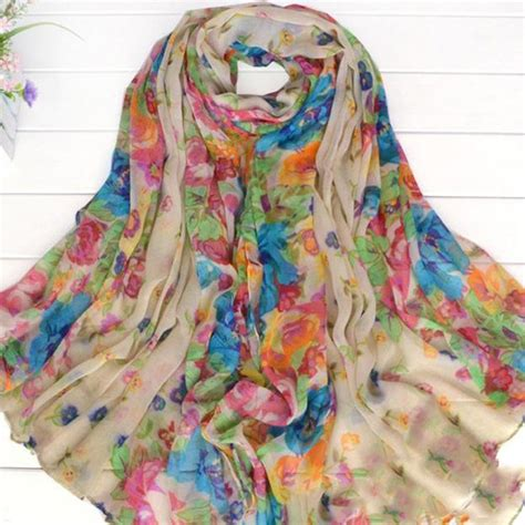 beautiful totem s floral flower scarf shawl wrap