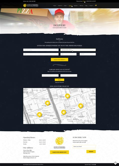 delivery menu template food pizzeria ultimate delivery psd template by