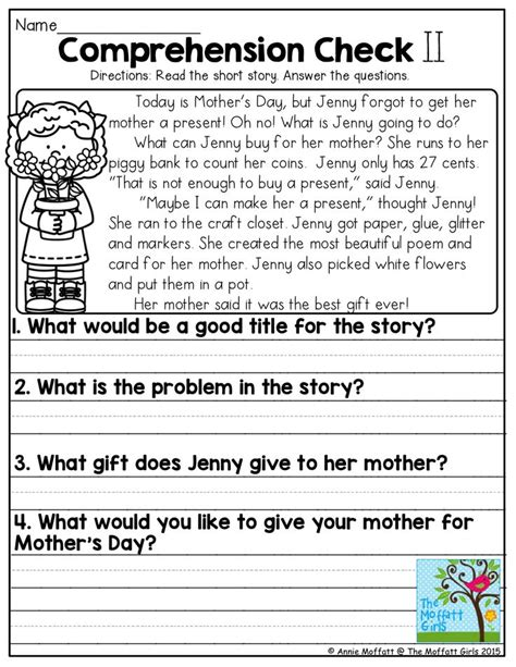 printable reading comprehension test 1000 images about reading on pinterest first grade