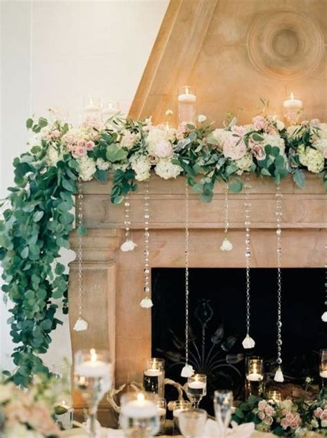 How To Decorate Fireplace Mantel Best 25 Wedding Fireplace Decorations Ideas On Pinterest