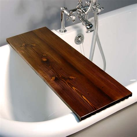 bathtub caddy wood handmade tub caddy dark walnut the loo store