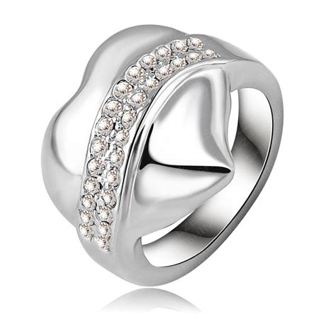 high quality cheap exaggerated ring platinum plating big