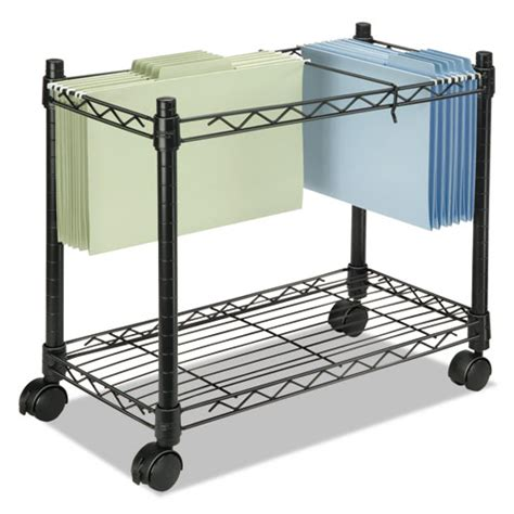 rolling file cart high capacity rolling file cart 24w x 14d x 20 1 2h black zerbee