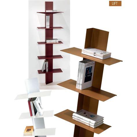 librerie a colonna libreria moderna lift da parete a colonna in acciaio 5 mensole