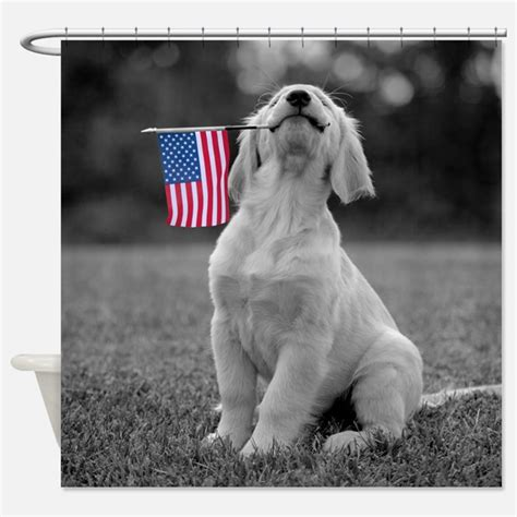 patriotic puppy names patriotic shower curtains patriotic fabric shower curtain liner