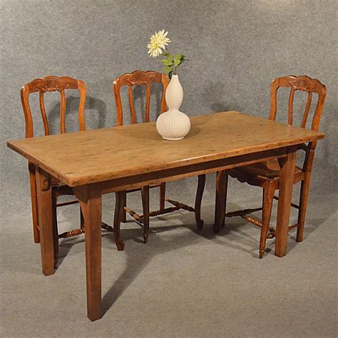 Vintage Pine Dining Table Antique Pine Table Kitchen Or Dining With Quality Antiques Atlas