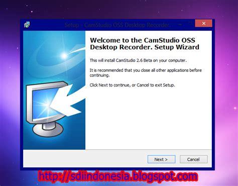 membuat video tutorial dengan camstudio download camstudio full tutorial sdi indonesia