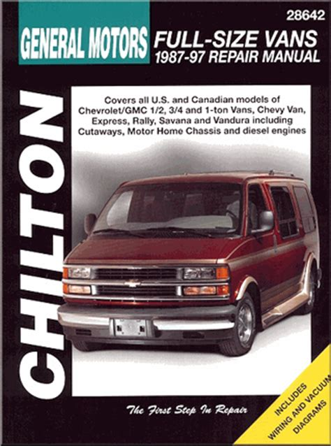 free online auto service manuals 1996 gmc rally wagon g3500 interior lighting chevy gmc rally savana express vandura repair manual 1987 1997