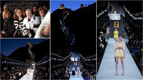 Fendi Catwalk Show In Great Wall Of China by Great Wall Of China Colors N Spirits