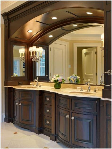 بالصور 13 فكرة لاستخدام المنحنيات في ديكور المنزل Bathroom Cabinet Ideas Design