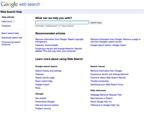 Search Help Revs Web Search Help Design