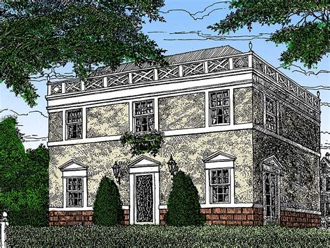 federal house plans architectural designs