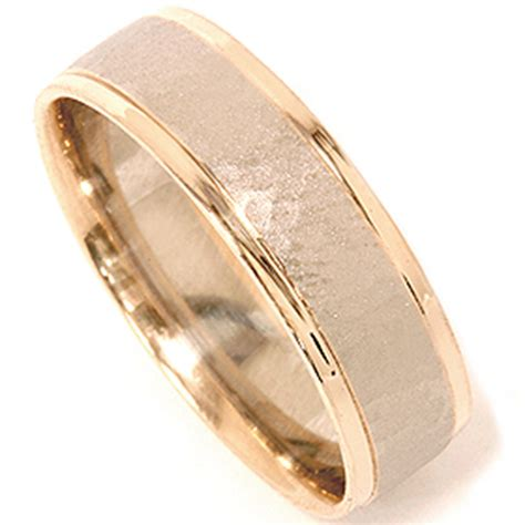 lowest prices hammered solid 14k gold 6mm flat mens