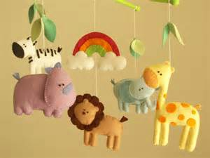 baby crib mobile safari mobile animal mobile felt mobile
