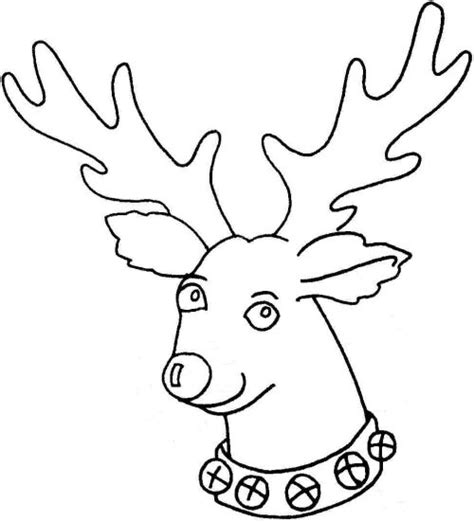 search results for reindeer face outline template