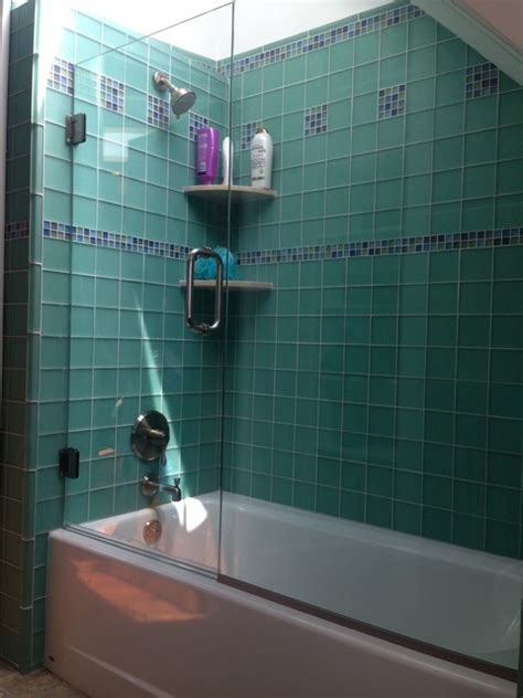 sea glass bathroom sea glass tile modern bathroom new york by brian