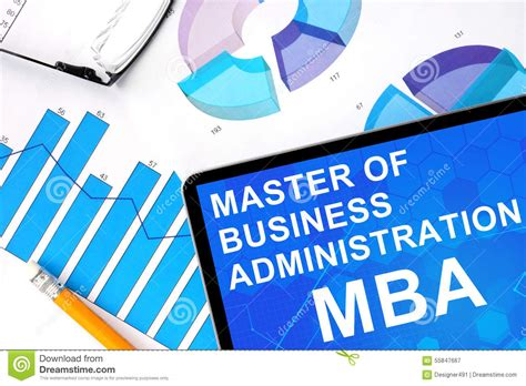 Corporate Integrated Bba Mba by Master Word Made Of Wooden Letters Stock Photo