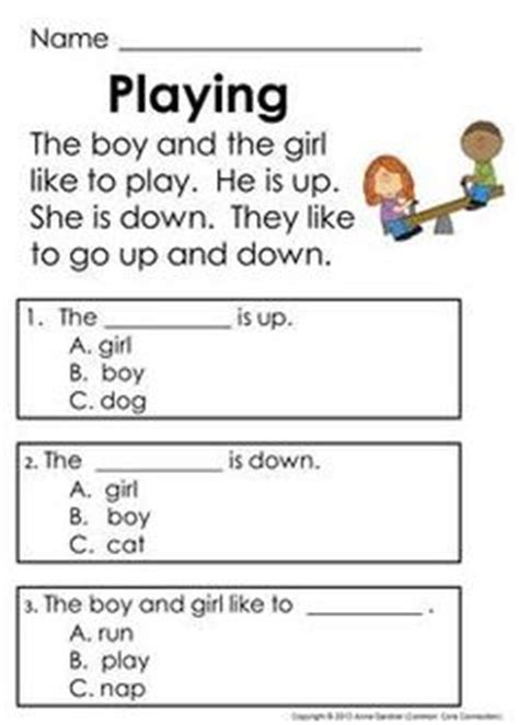 reading comprehension test year 1 guided reading worksheets for year 1 reading lesson for