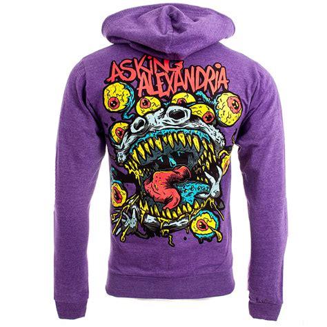 Hoodie Asking Alexandria Family asking alexandria hoodies mens purple eyeballs hoodie new official zip up hoody ebay