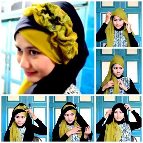 tutorial hijab acara pesta cara memakai hijab wisuda dan pesta tutorial video