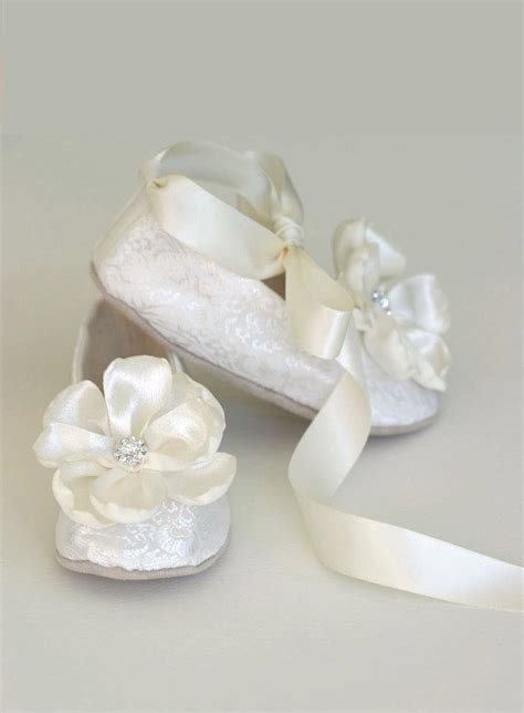 ivory slippers wedding ivory brocade toddler flower shoe flower
