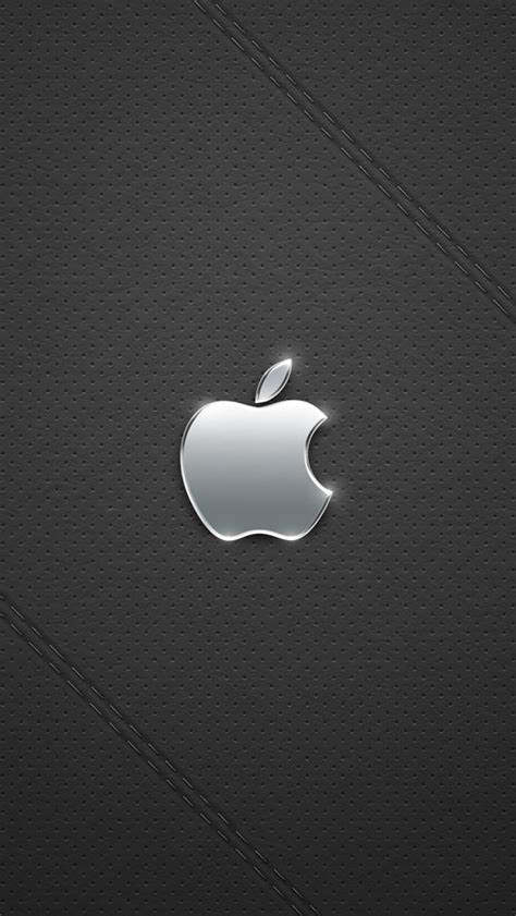 wallpaper for iphone 5 silver gray background silver apple logo iphone 5 wallpapers