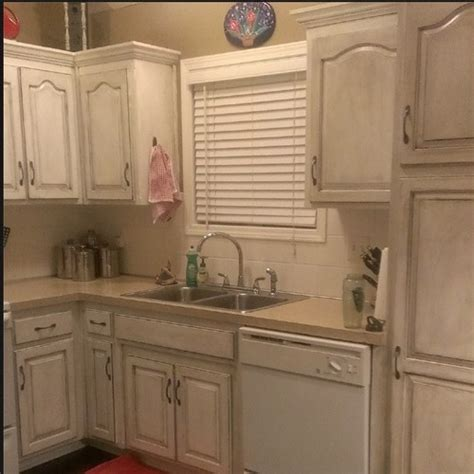 painting kitchen cabinets a rustic look