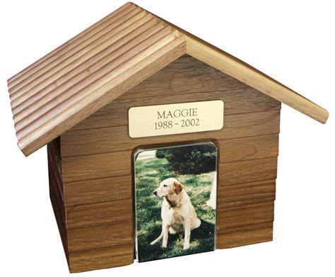dog house urn pet urn k 9 cottage dog house urns oak 2