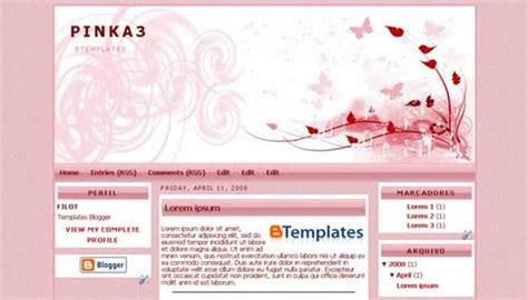 free girly templates for blogger girly template free girly template for blogger and free