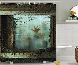 bloody hands shower curtain new arrival walking dead