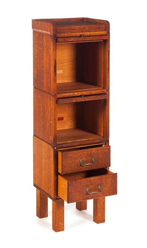 Stacked Bookshelf Three Piece Oak Narrow Stacking Bookcase