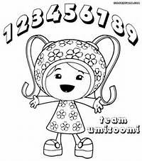 Coloring Page Team Umizoomi Milli Pages