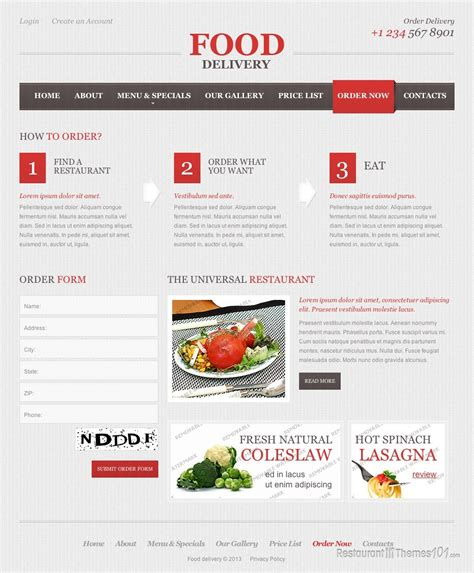 Food Delivery Review A Wordpress Restaurant Theme By Template Monster Grocery Delivery Website Template