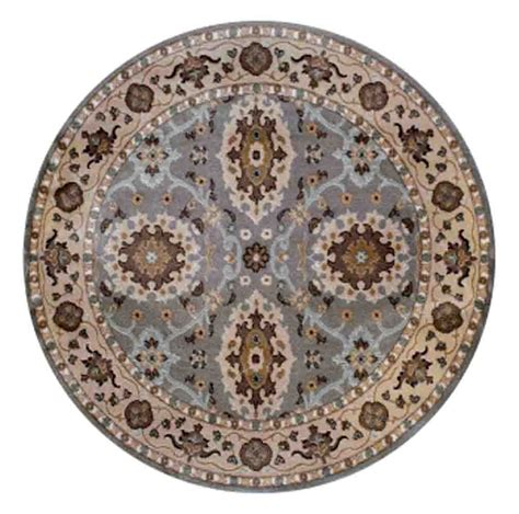 7x7 Area Rugs 7x7 Radici Grey Bordered Rings Bulbs Area Rug 3508 Aprx 6 7 Quot X 6 7 Quot